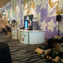 the day before- all the great Retail NZ staff setting up. 300 hundred attendees ( goodie bags needed packed)